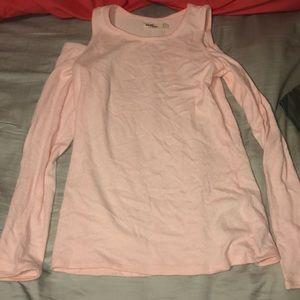 Hollister open shoulder long sleeve top